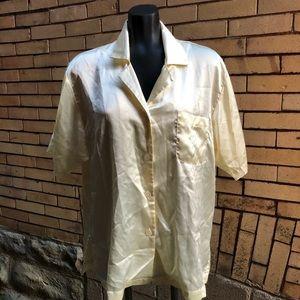 Vintage Dior golden cream sleep shirt M